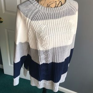 Two by Vince Camuto Colorblock Crewneck Sweater
